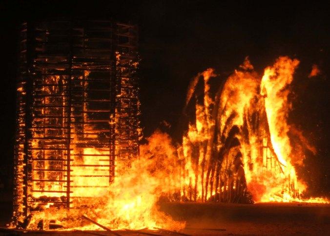 New York City's regional art burns at Burning Man 2013.