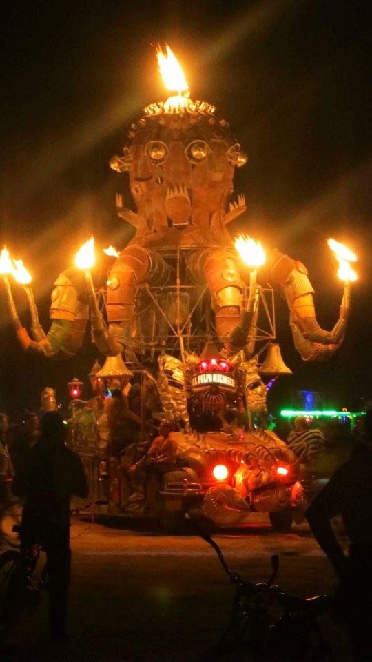 Burning Man mutant vehicle octopus.