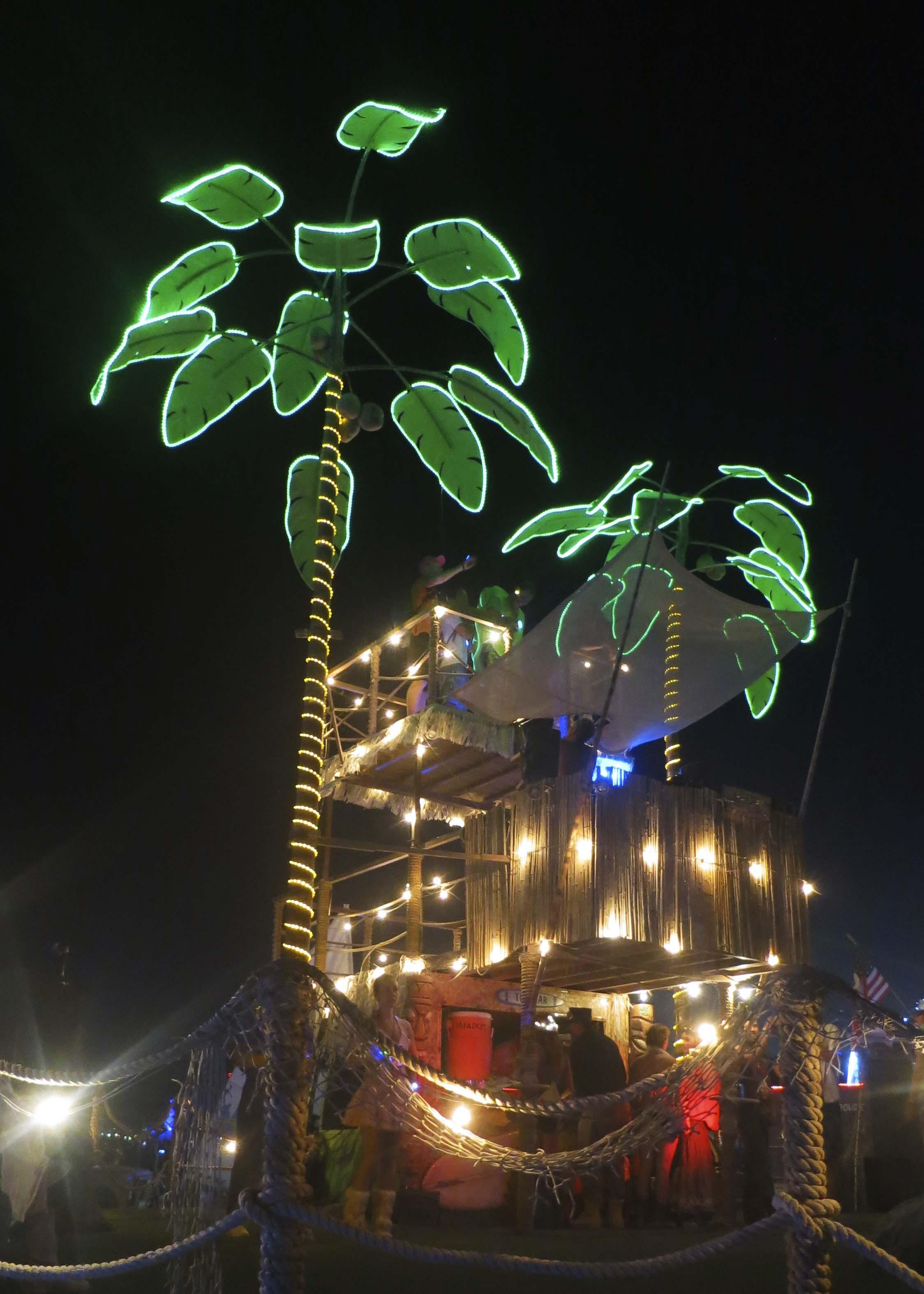 Palm tree mutant vehicle at Burning Man 2013.