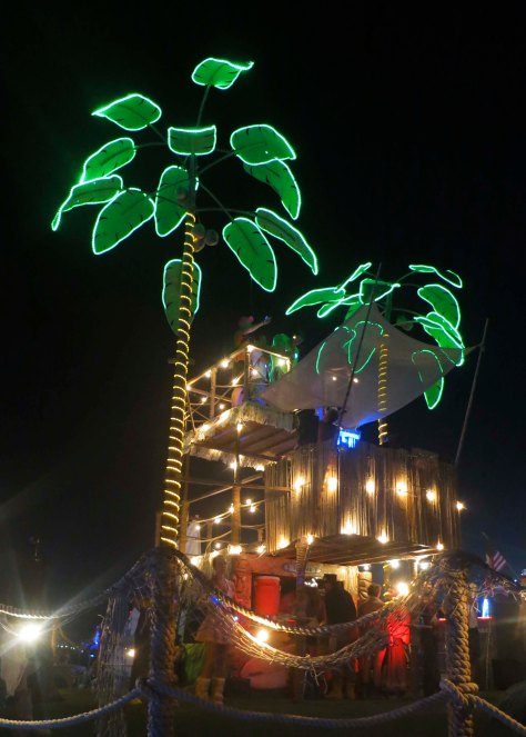 Palm tree mutant vehicle at Burning Man 2013.