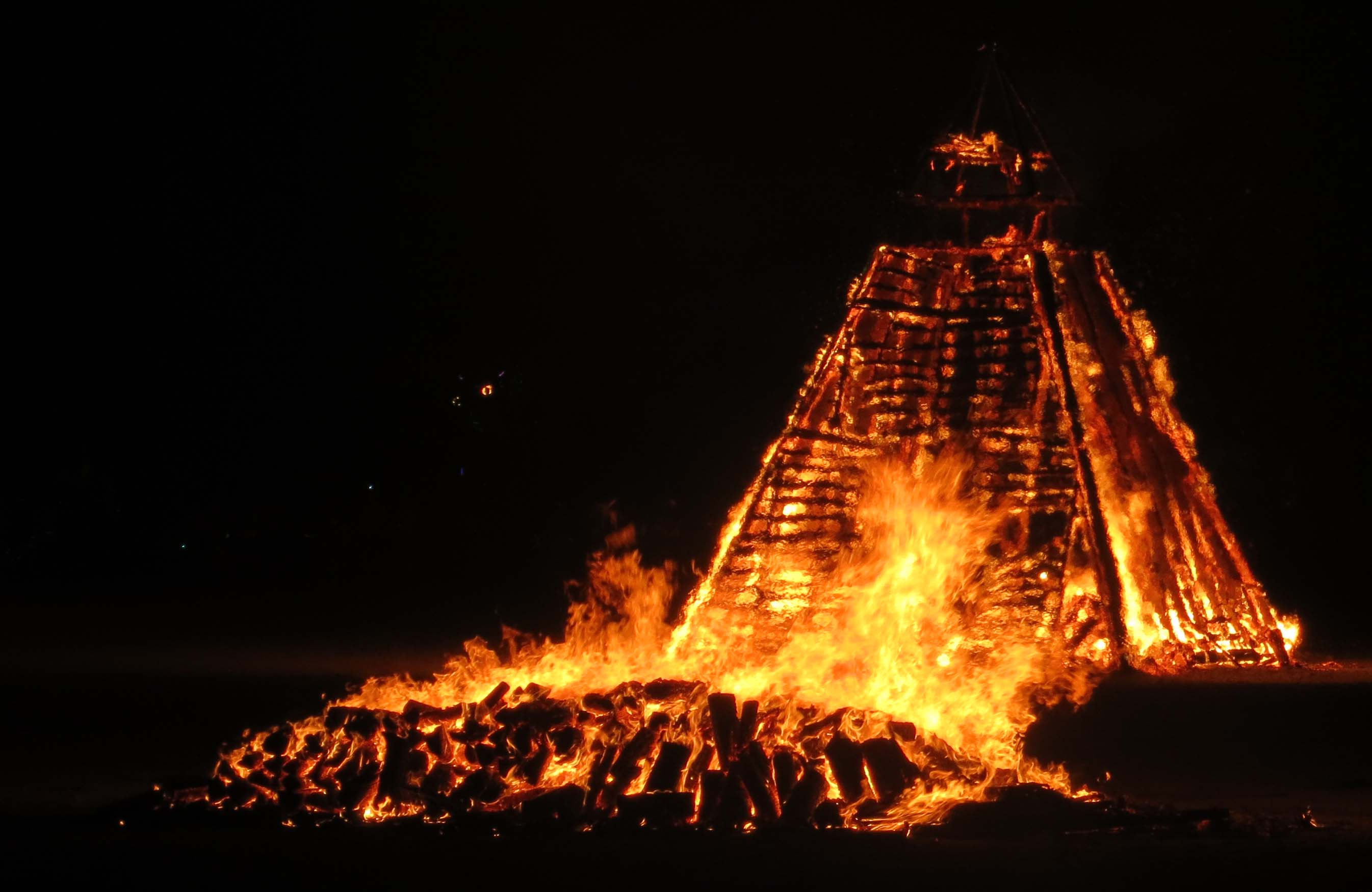 Washington DC's pyramid at Burning Man 2013.