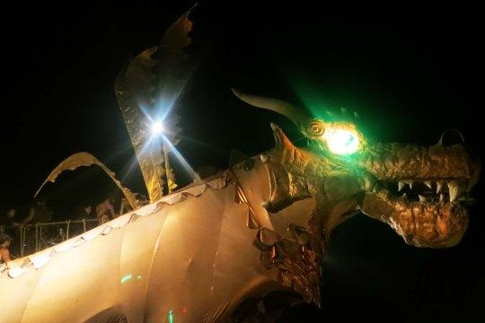 Dragon teeth at Burning Man 2013.