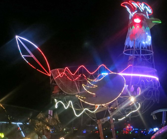 Rooster mutant vehicle at Burning Man 2013.