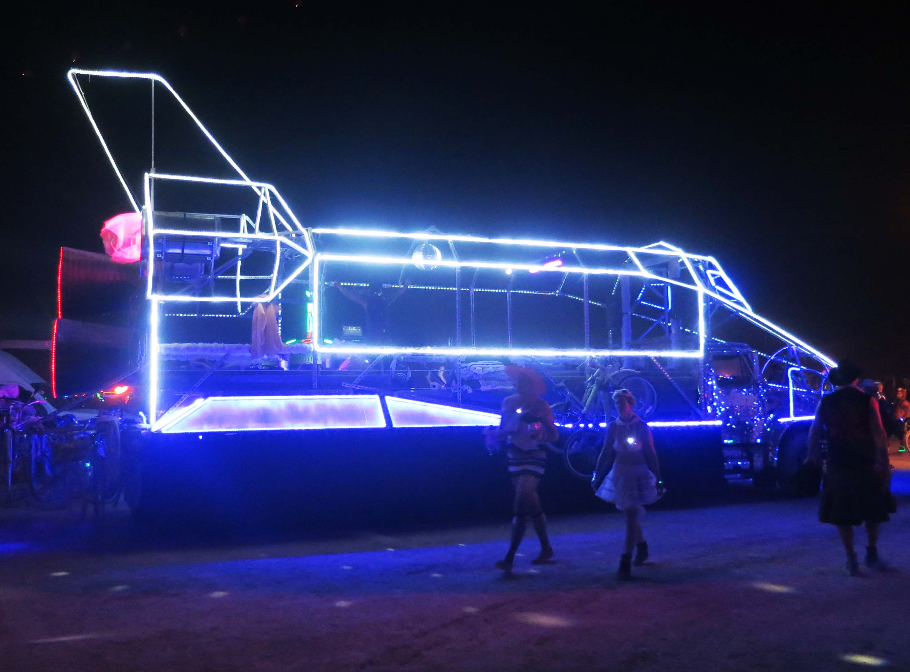 Space Shuttle mutant vehicle at Burning Man 2013.