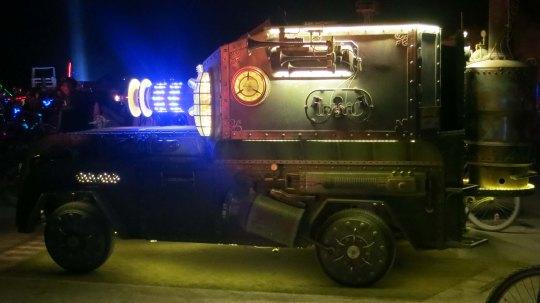Steam punk vehicle at Burning Man 2013.