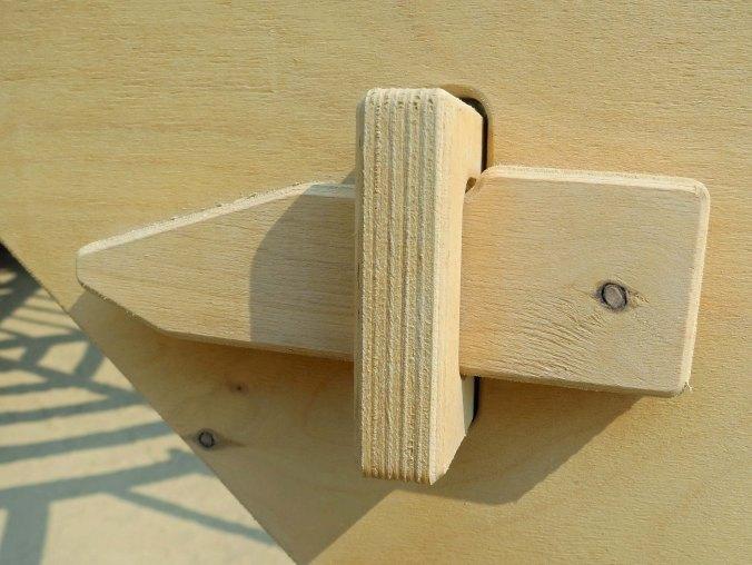 wood fastener at Burning Man's 2013 Temple.