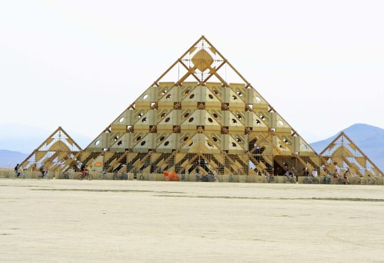 The Temple of Whollyness at Burning Man 2013.