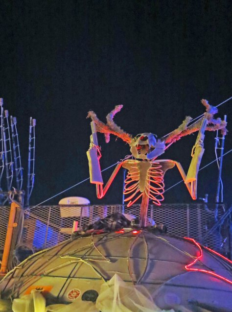 As I did this strange horned creature at Burning Man 2013.