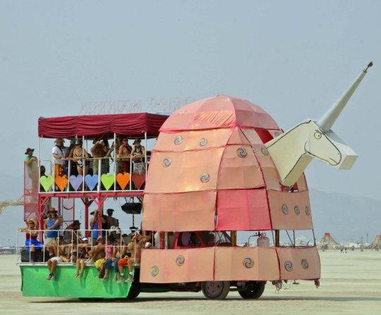Unicorn mutant vehicle at Burning Man 2013.