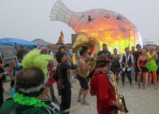 The mutant vehicle vase at Burning Man 2013.