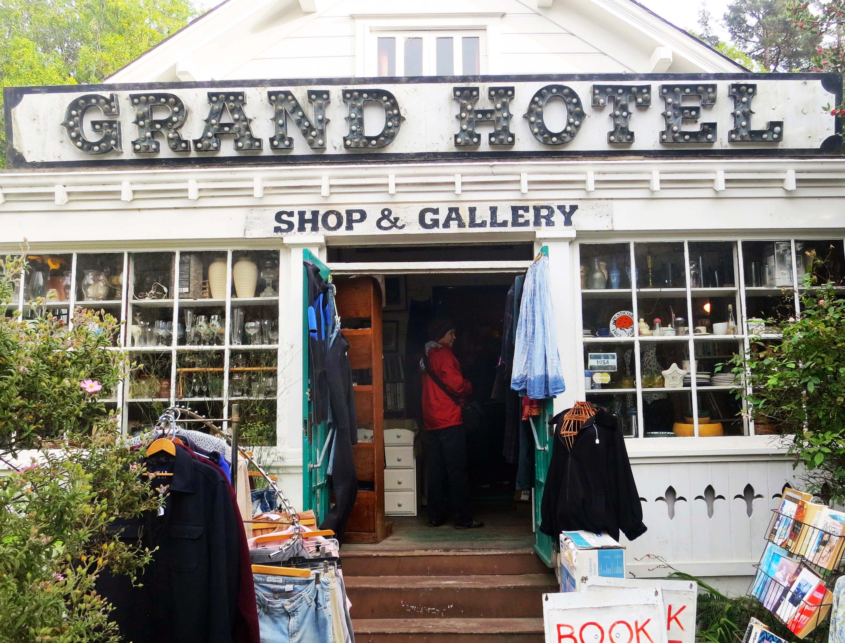The Grand Hotel Shop and Gallery in Bolinas, California. Photo by Curtis Mekemson.