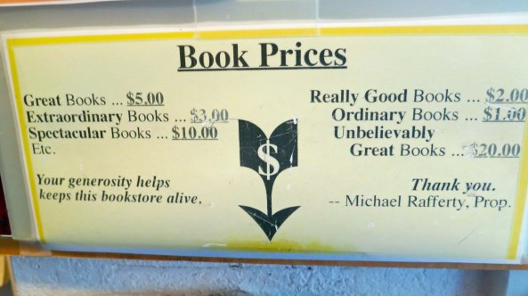 Bolinas, California unique book pricing recommendations. Photo by Curtis Mekemson.