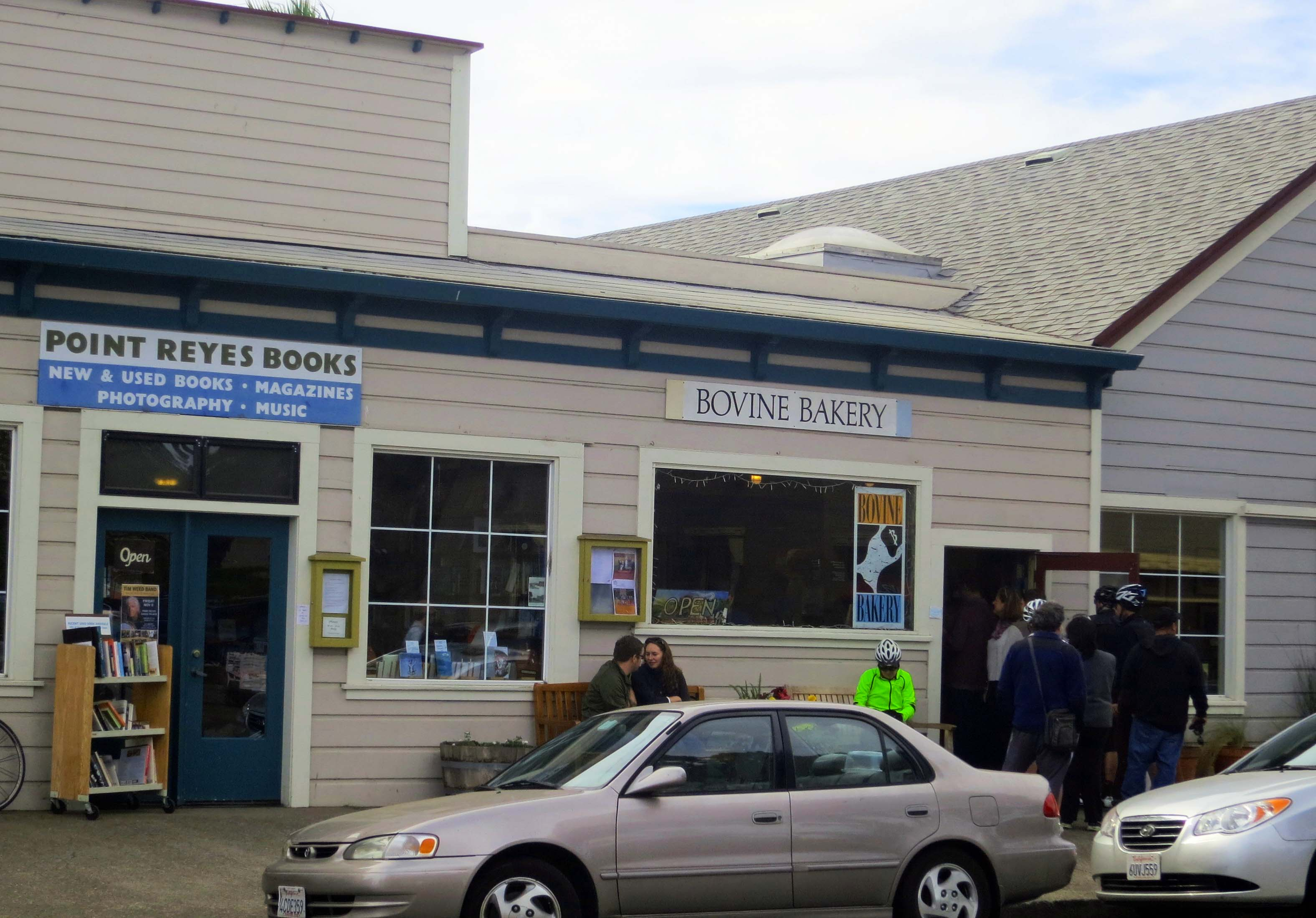 Photo of Point Reyes Books and Bovine Bakery in Point Reyes Station by Curtis Mekemson.