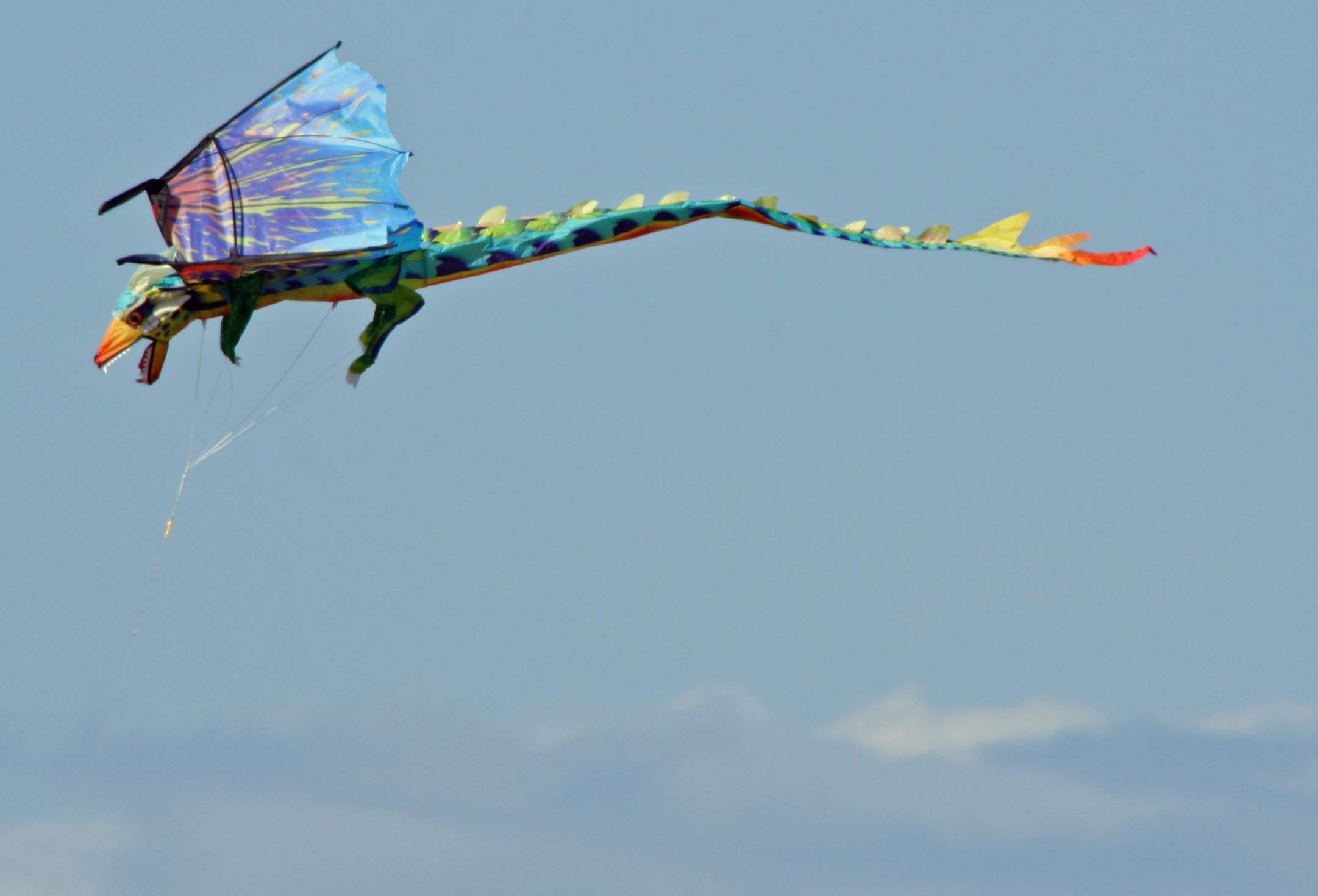 The winds at North and South beach provide excellent loft for kite flying. I enjoyed the dragon but it distracted me from my writing.