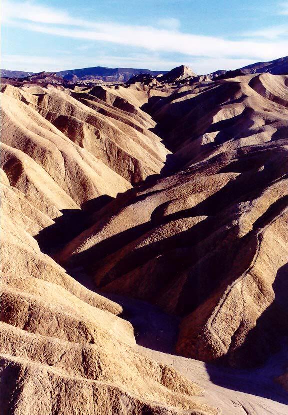 Zabriskie Point, Death Valley. Photo by Curtis Mekemson.