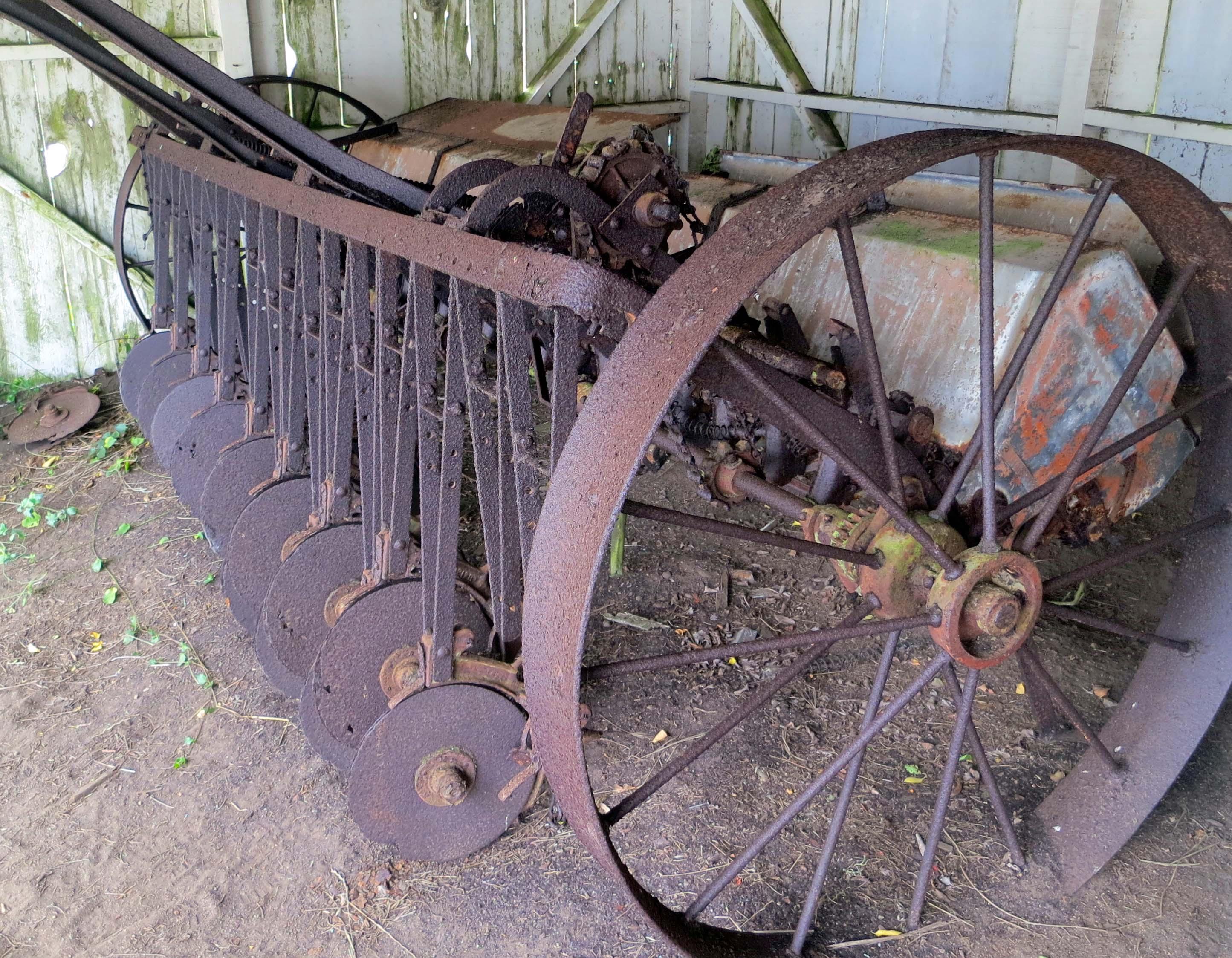 Old soil tiller at Pierce Ranch, Pt. Reyes National Seashore. Photo by Curtis Mekemson.