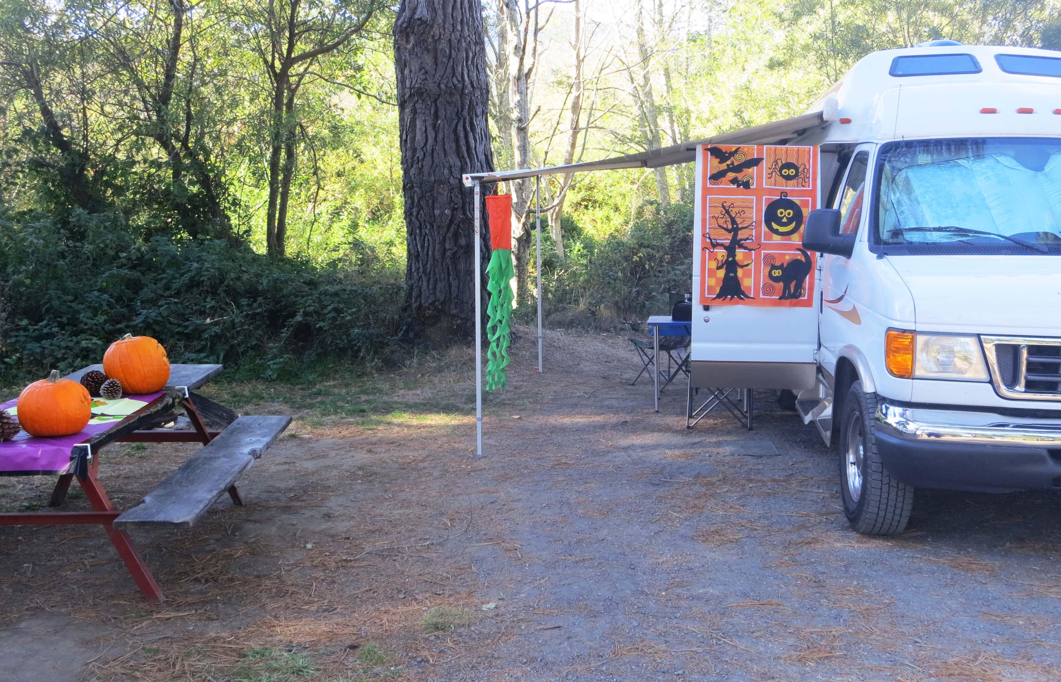Photo of Olema Campground next to Pt. Reyes National Seashore by Curtis Mekemson.