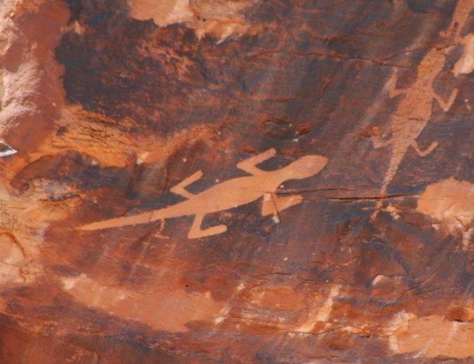 Lizard petroglyph in Dinosaur National Monument. Photo by Curtis Mekemson.