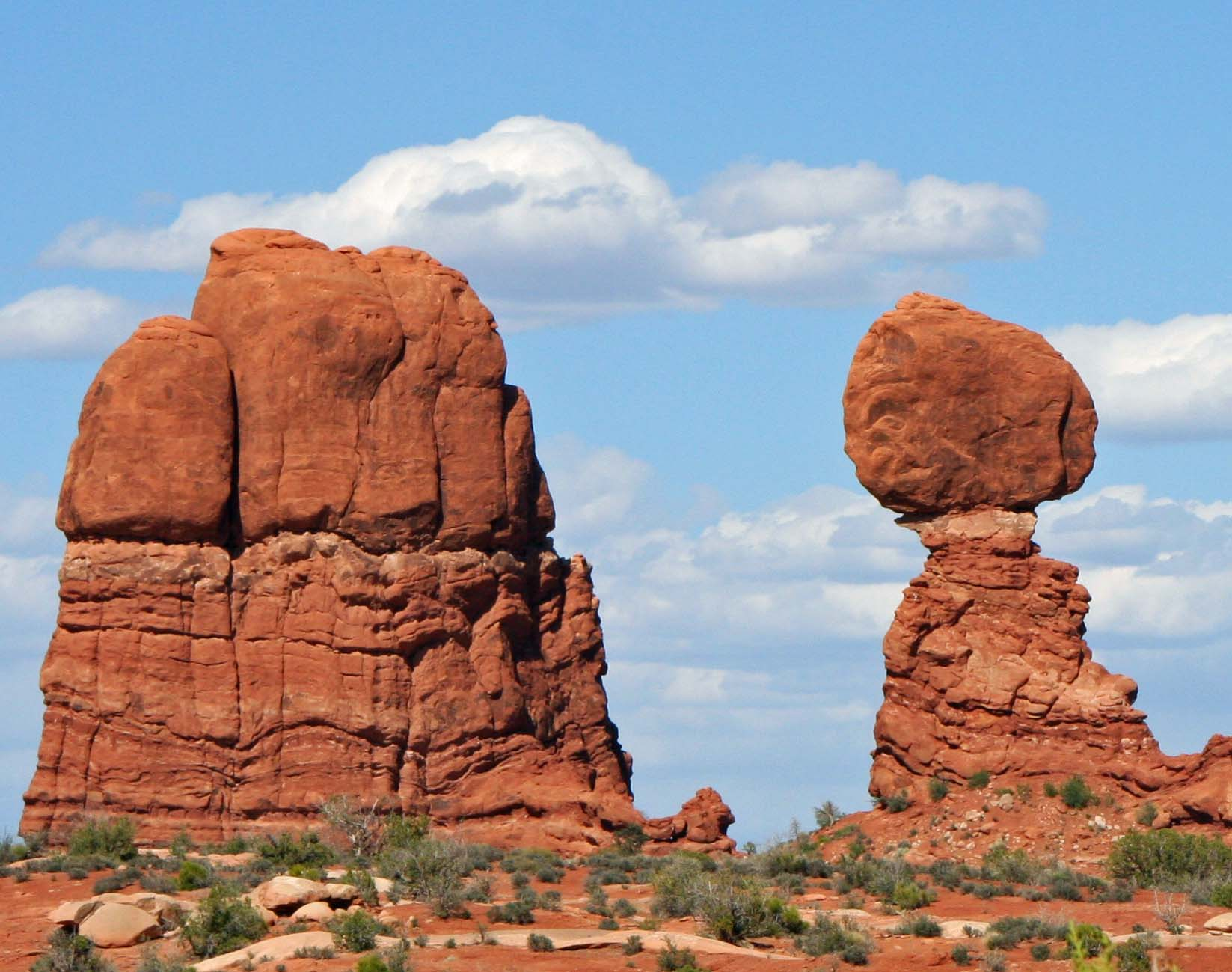 Rock sculpture at Arches Natioal park. Photo by Curtis Mekemson.