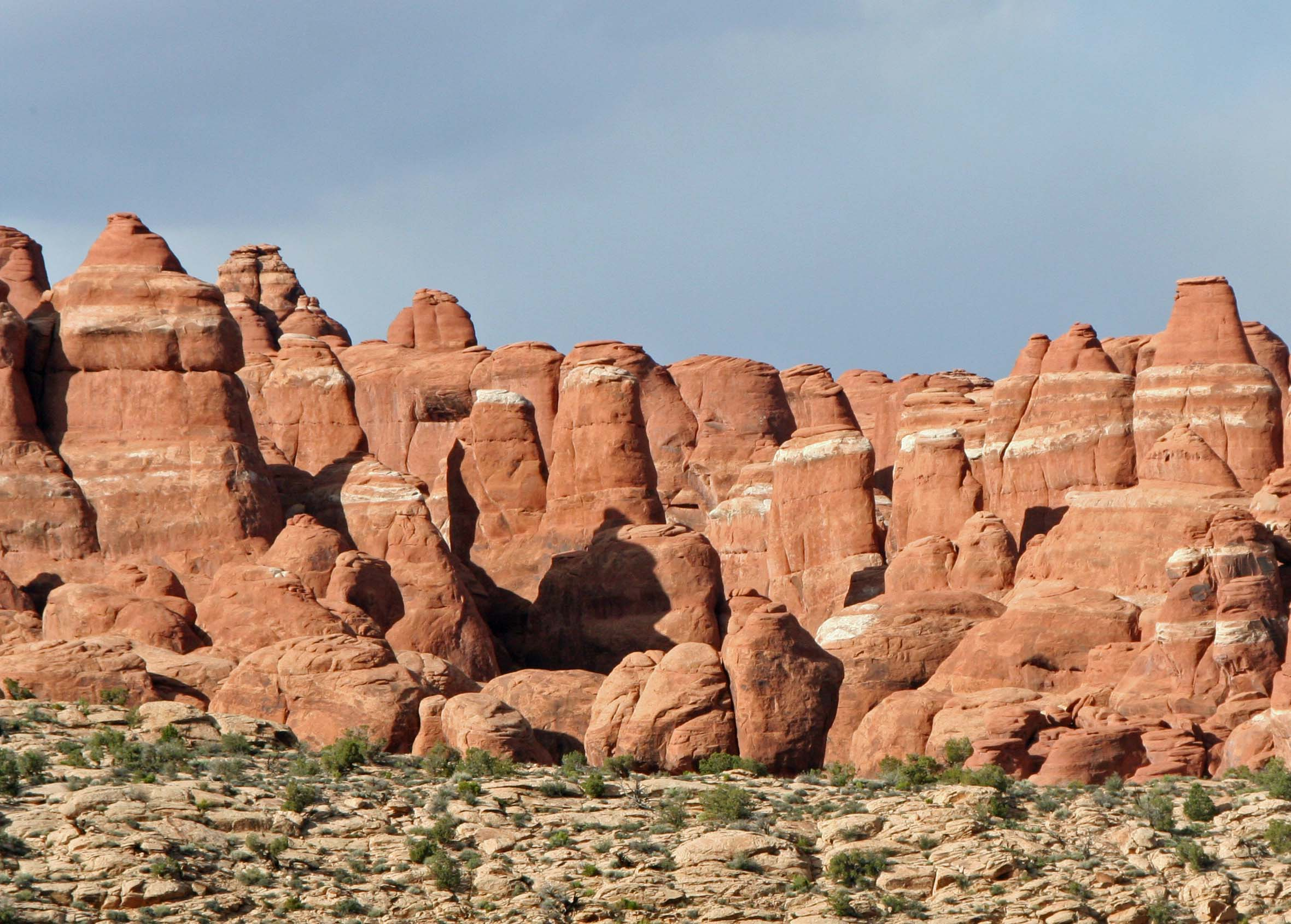 Sedimentary layers shown at Arches National Park. Photo by Curtis Mekemson.