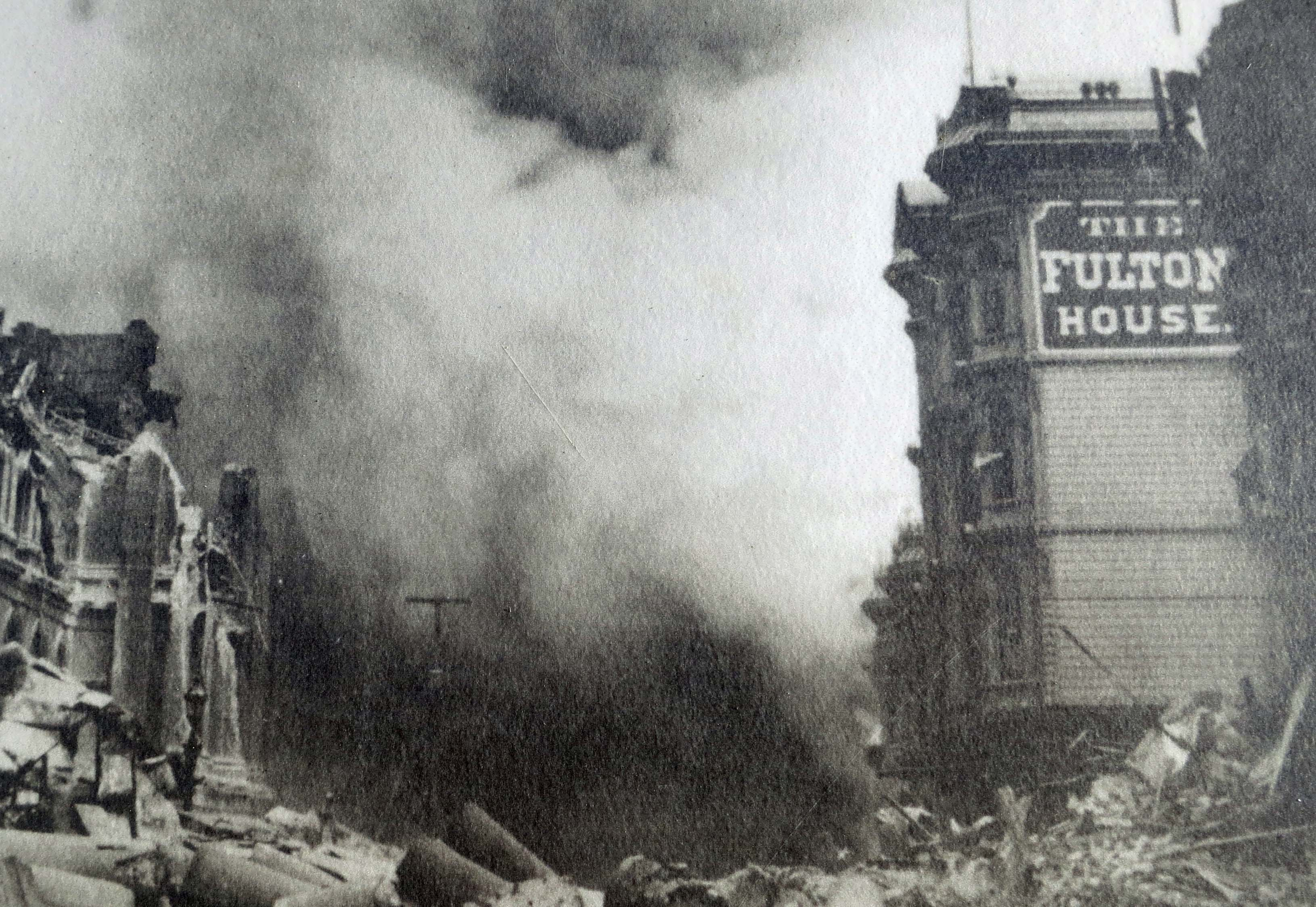 And this photo from the Earthquake Trail shows the result of the 1906 earthquake on San Francisco.