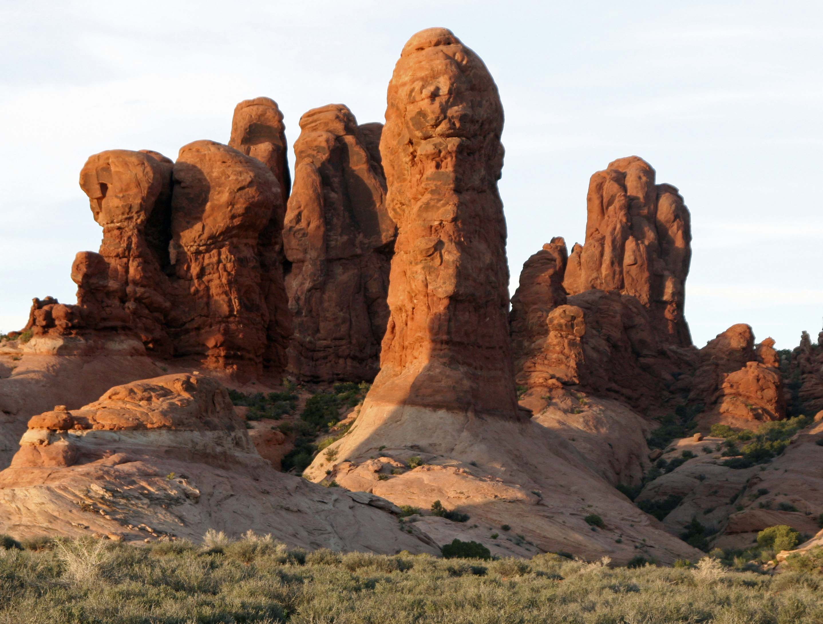 Stone sculptures at Arches National Park. Photo by Curtis Mekemson.