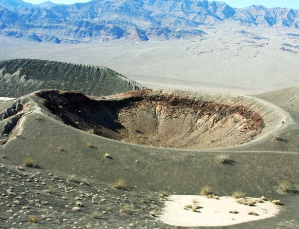 Small crater next to Ubehebe Crater in Death Valley. Photo by Curtis Mekemson.