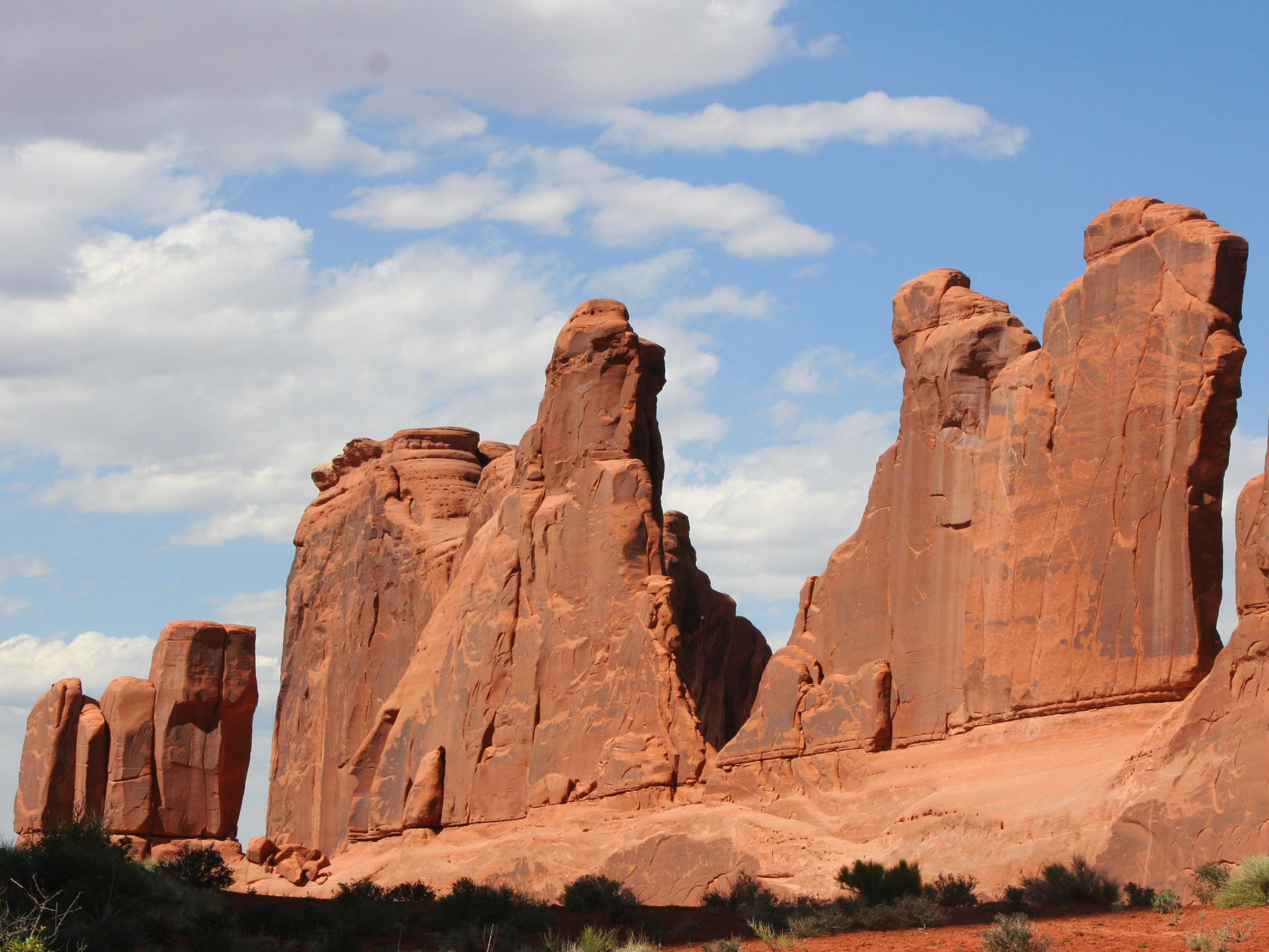 Wall of stone at Arches National Park. Photo by Curtis Mekemson.