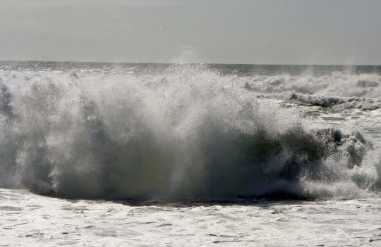 Photo of waves at South Beach, Pt. Reyes National Seashore. Photo by Curtis Mekemson.