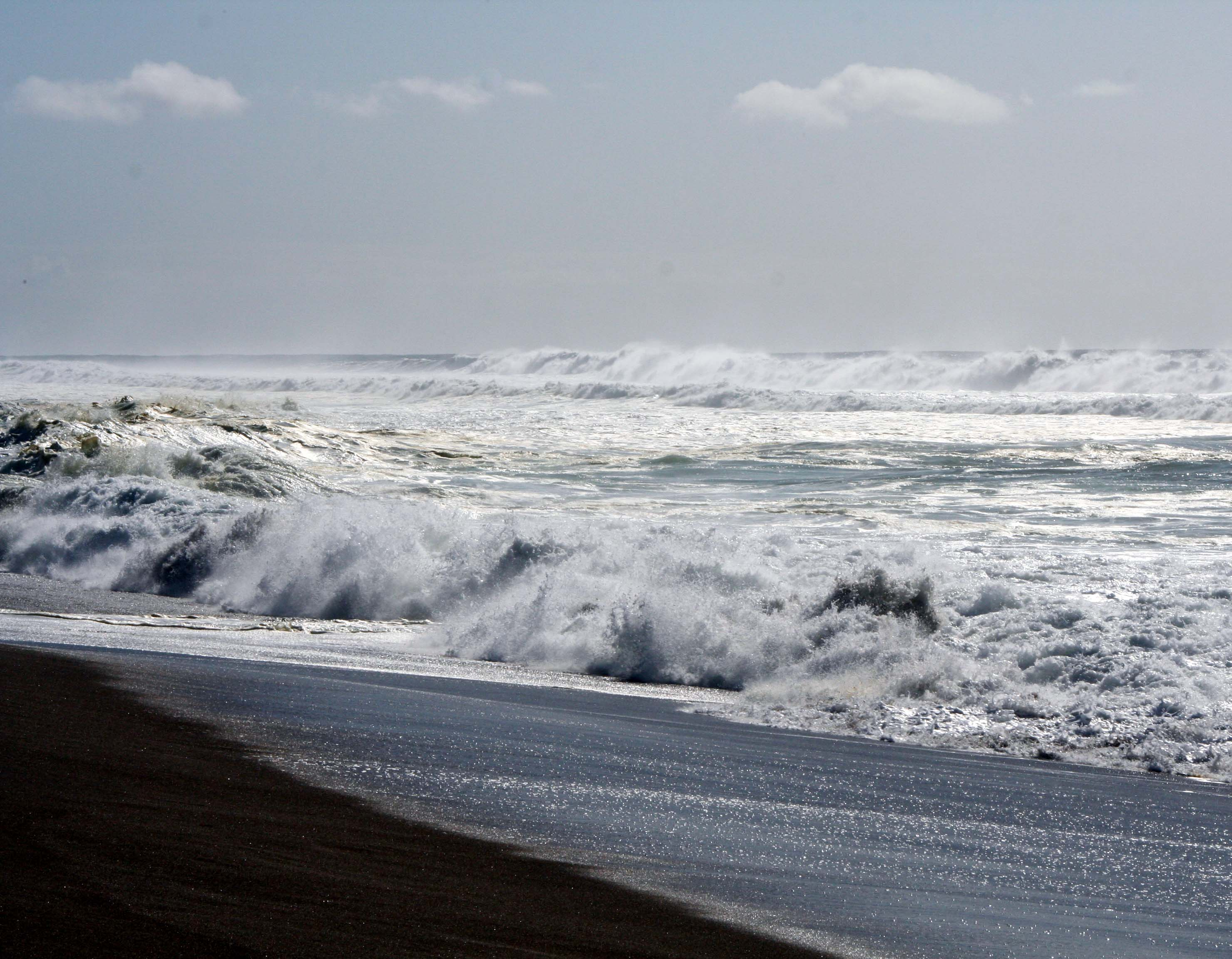 Waves pound the beach at South Beach, Pt. Reyes National Seashore. Photo by Curtis Mekemson.