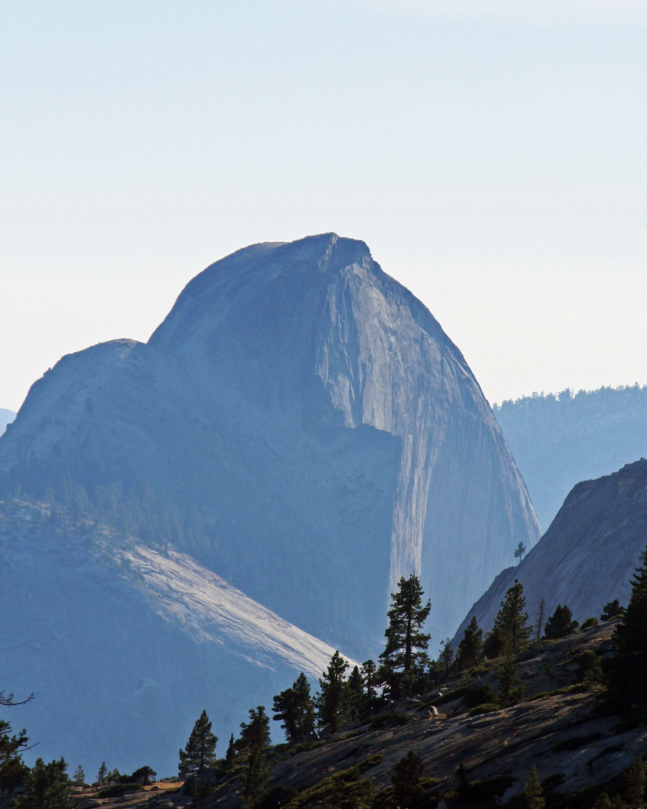 Yosemite's Half Dome captured on a hazy day. Photo by Curtis Mekemson.