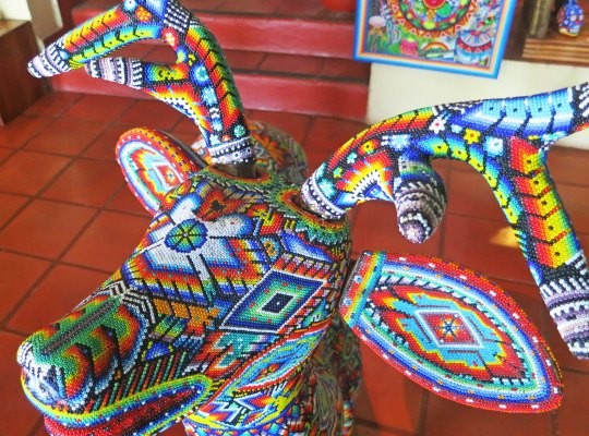 Photograph of Huichol deer by Curtis Mekemson.
