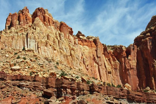 I'll conclude for today with this photo Peggy took of Capitol Reef National Park in Utah. (Photo by Peggy Mekemson.)