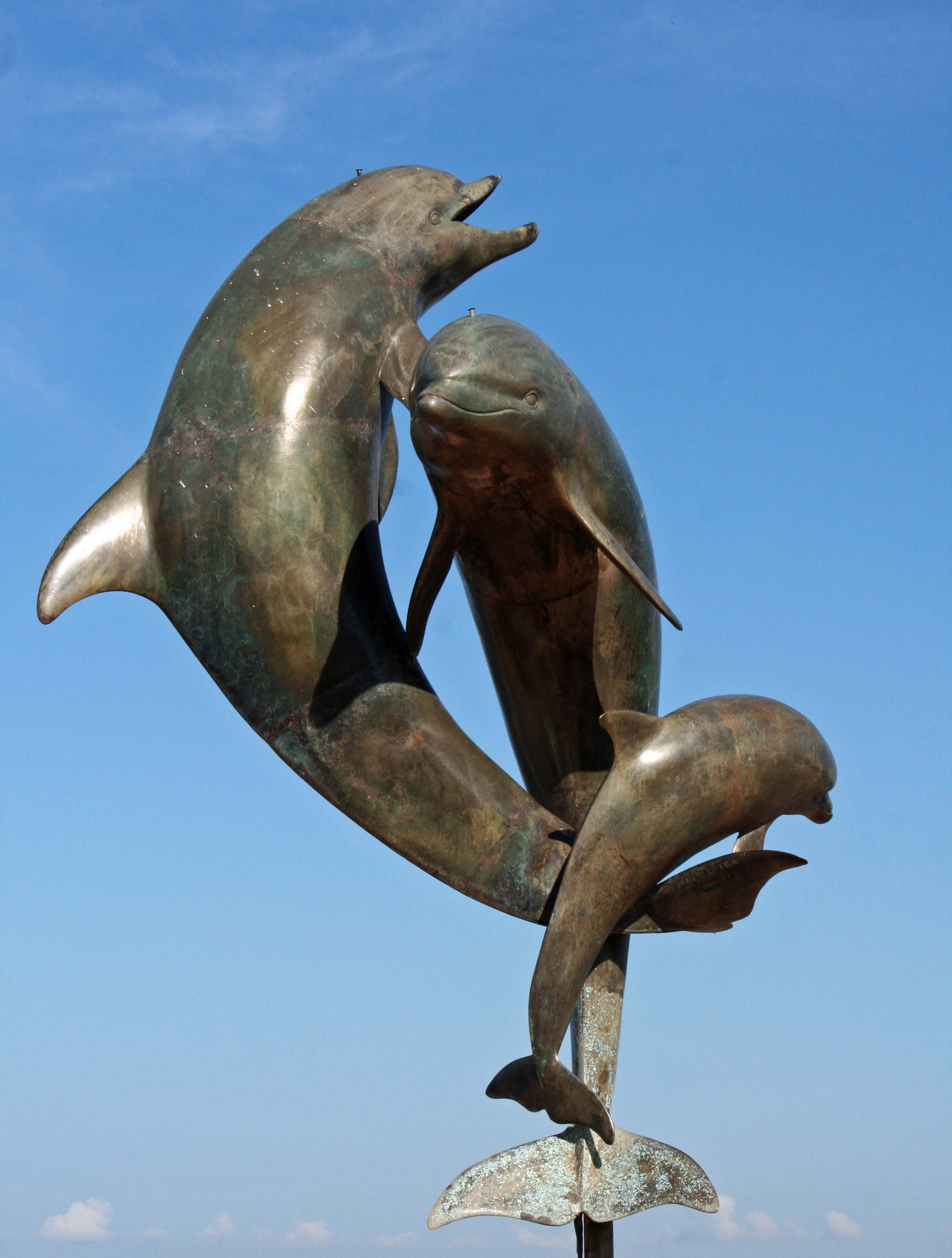 Dancing Dolphins sculpture in Puerto Vallarta, Mexico. Photo by Curtis Mekemson.