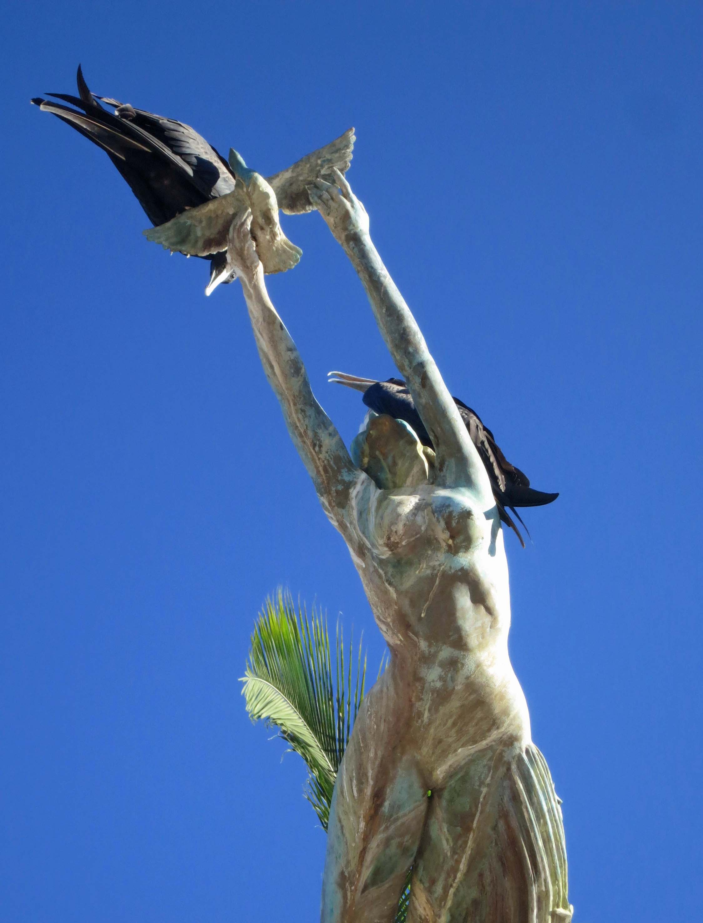 Photograph of Puerto Vallarta's Millennia Statue by Curtis Mekemson.
