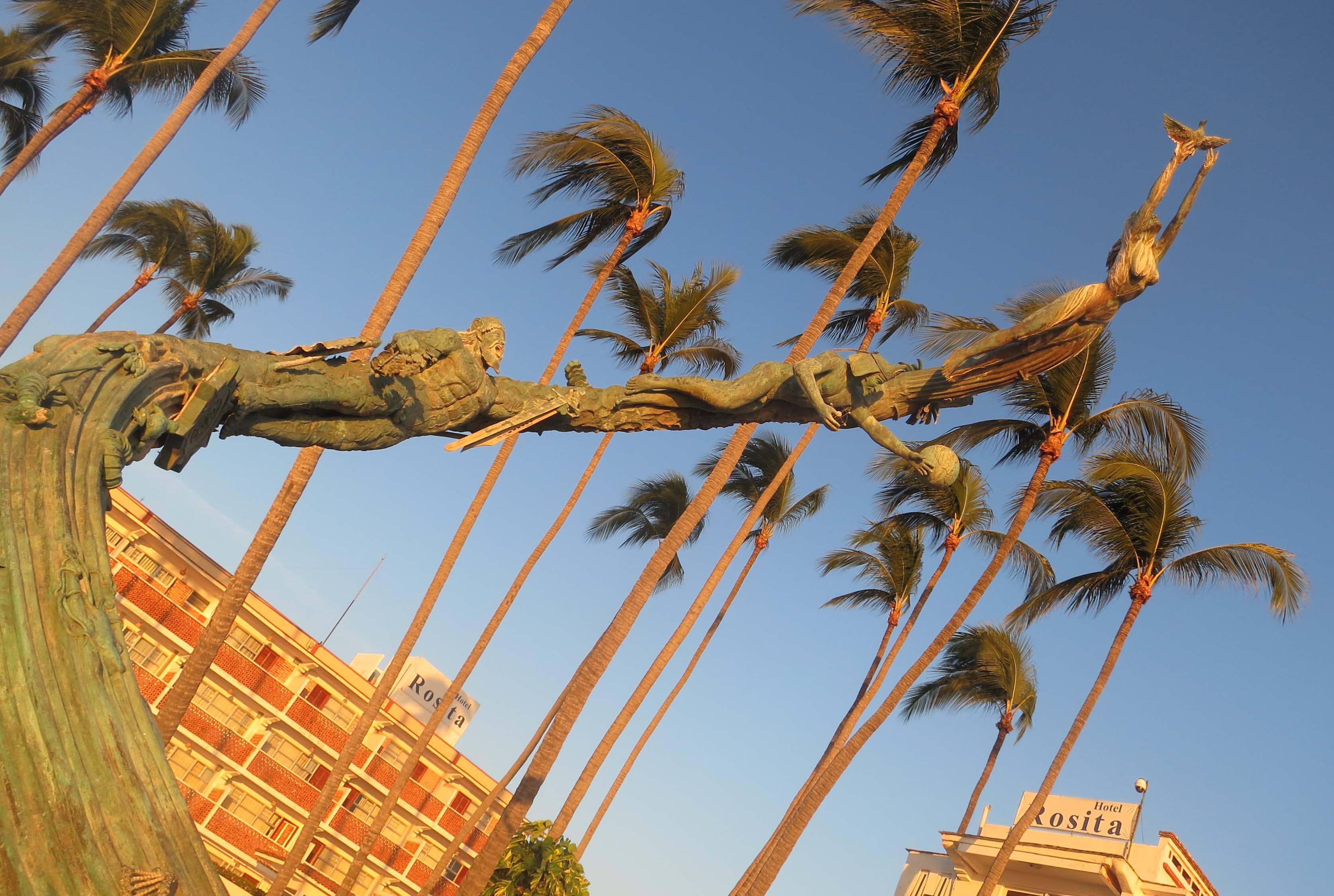 Photo of Puerto Vallarta Millennia sculpture by Curtis Mekemson.
