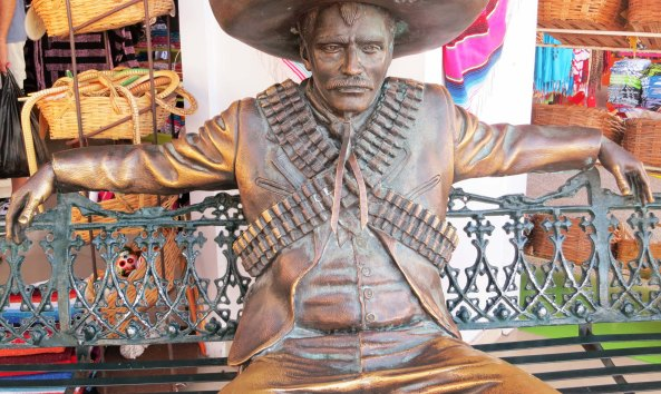 Puerto Vallarta sculpture of Pancho Villa. Photo by Curtis Mekemson.