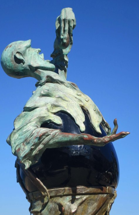 Rock Eater sculpture in Puerto Vallarta by Jonas Gutierrez. Photo by Curtis Mekemson.