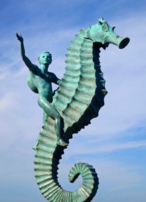 Seahorse sculpture in Puerto Vallarta. Photo by Curtis Mekemson.