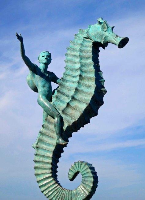 Seahorse sculpture in Puerto Vallarta. Photo by Curtis Mekemson.