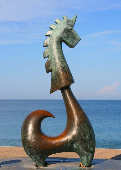 This Unicorn by Anibal Riebeling supposedly brings people good luck. (Photo by Peggy Mekemson.)
