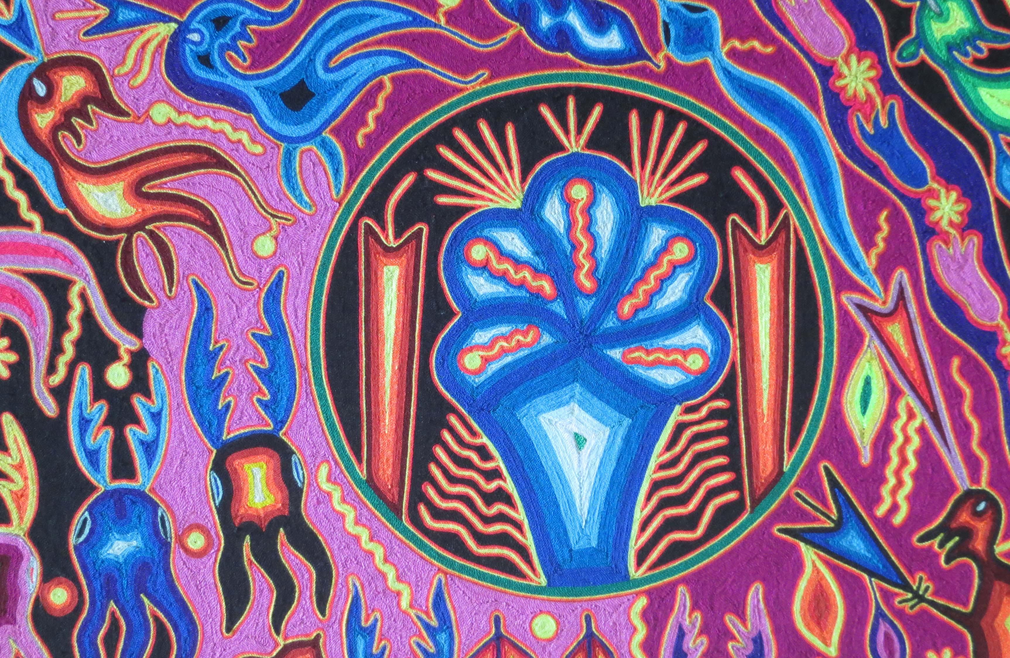 Huichol Art Center Huichol Yarn Art Photo by