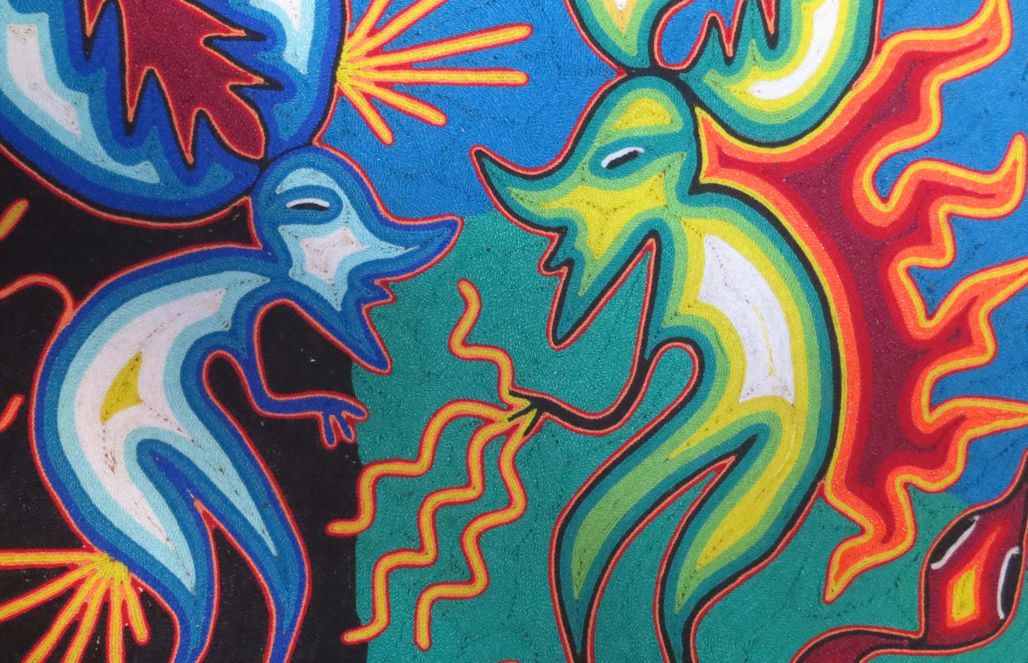Huichol Art Center Shamans in Huichol Art