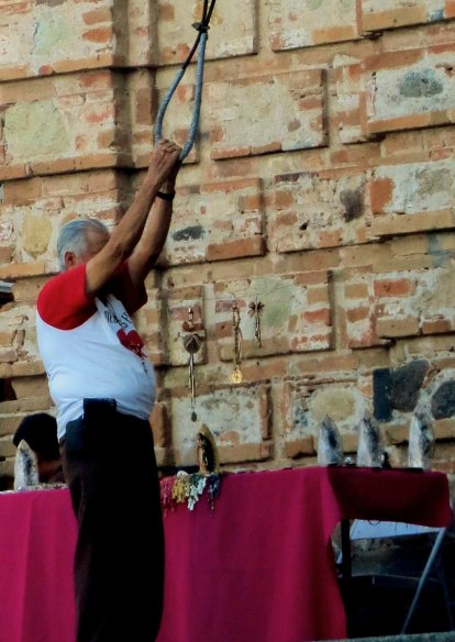 Bell ringer at Our Lady of Guadalupe Church in Puerto Vallarta Mexico. Photo by Curtis Mekemson.