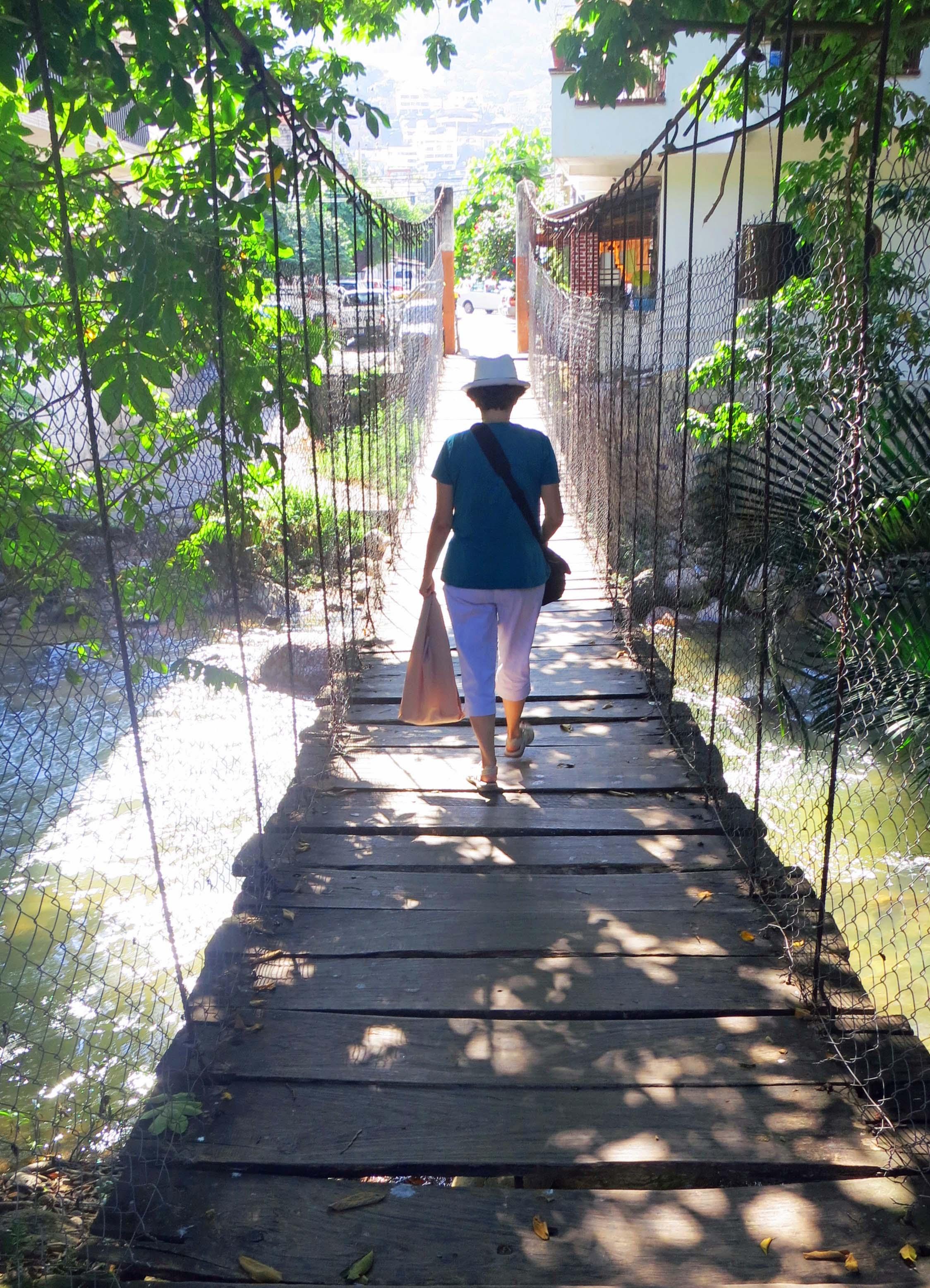 Puerto Vallarta's swinging bridge. Photo by Curtis Mekemson.