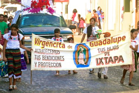 Parade to honor Our Lady of Guadalupe in Puerto Vallarta, Mexico. Photo by Curtis Mekemson.