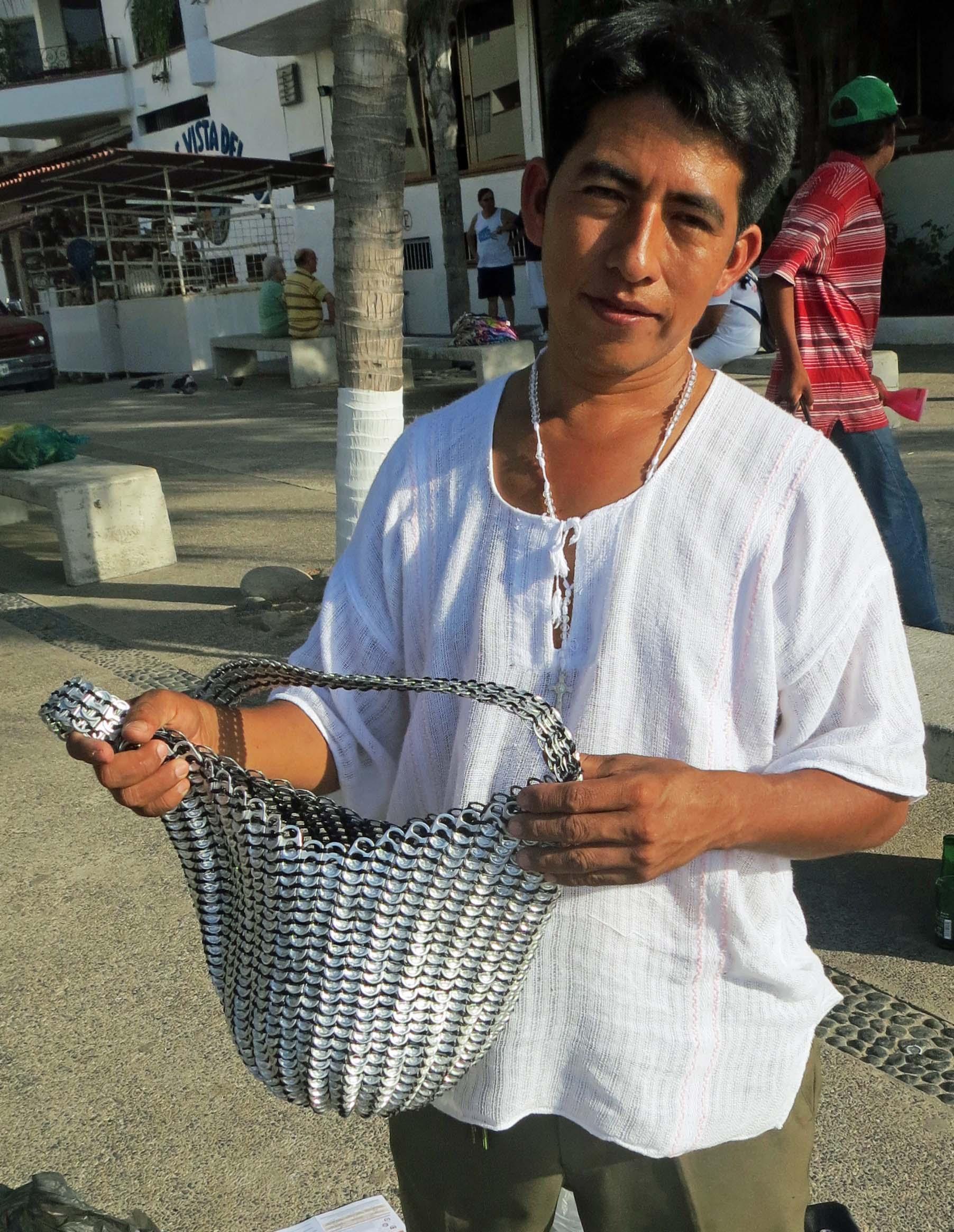 Puerto Vallarta craftsperson. Photo by Curtis Mekemson.