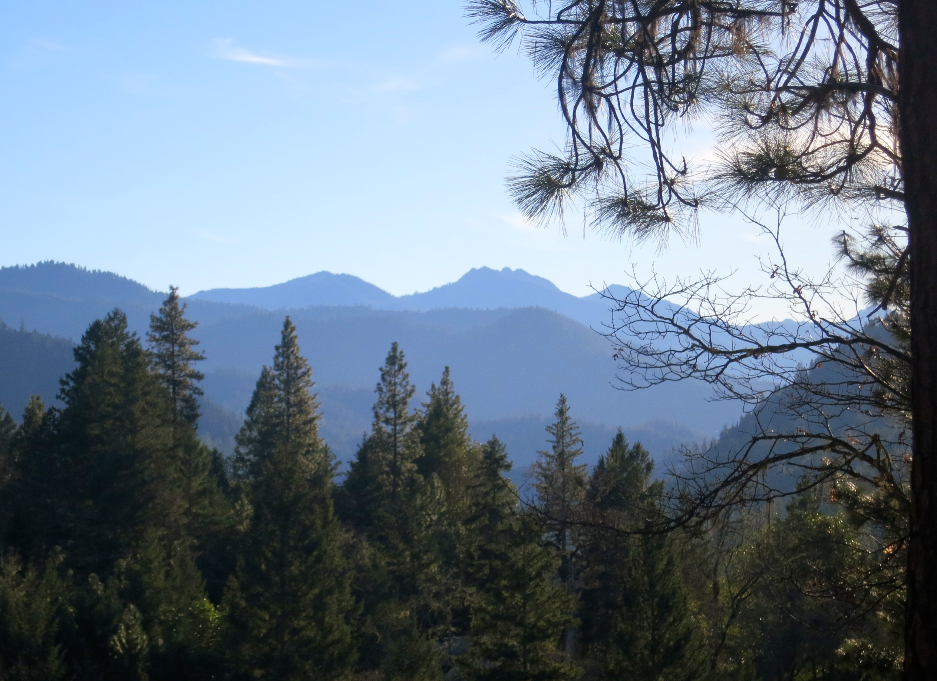 View of Red Buttes from Upper Applegate Valley, Oregon. Photo by Curtis Mekemson.