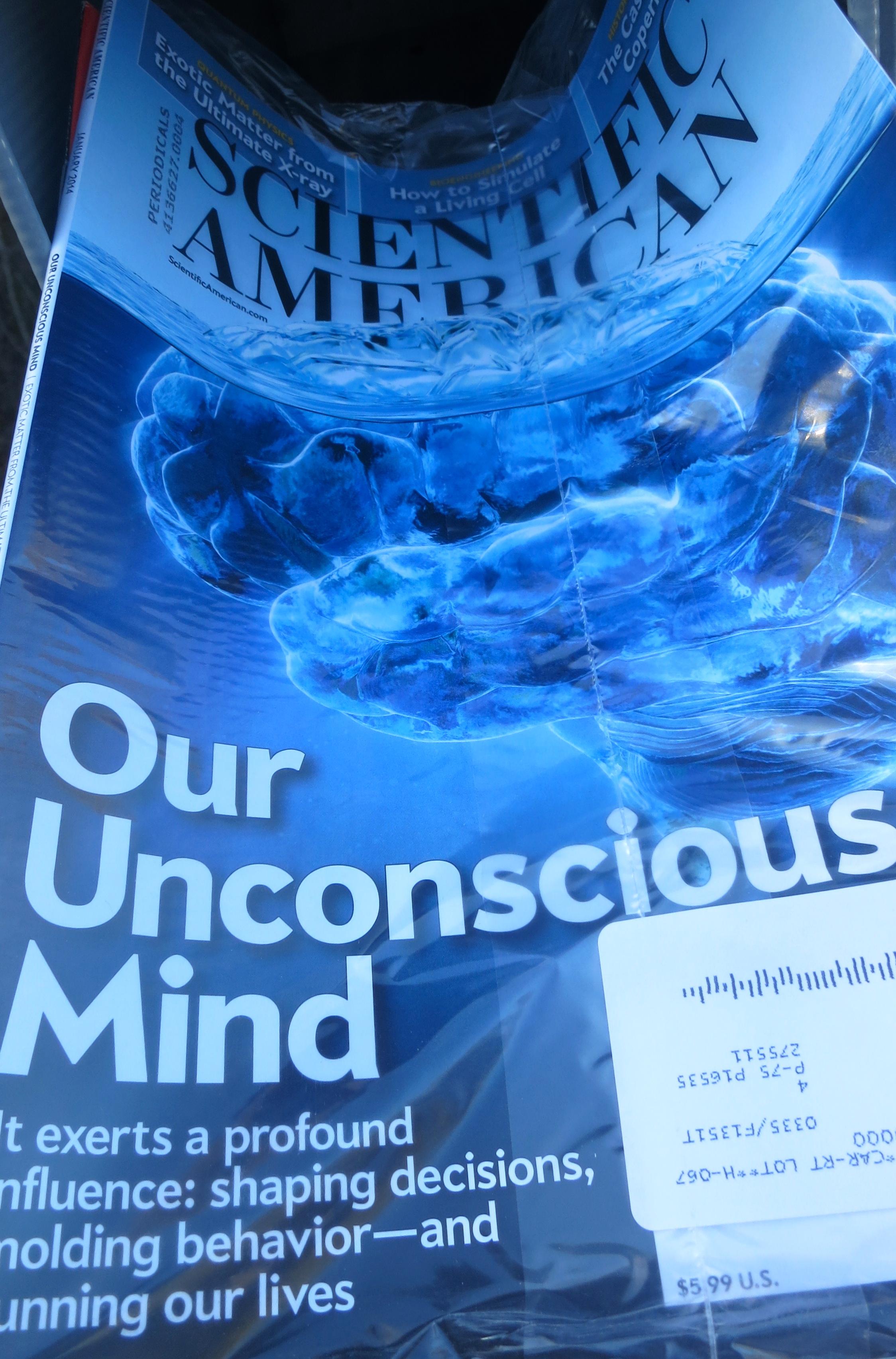 My reward– a new Scientific American.