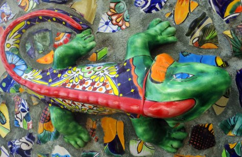 Puerto Vallarta mural featuring iguana. Photo by Curtis Mekemson.